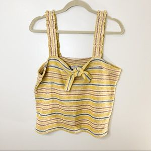 Madewell Striped Yellow Crop Top